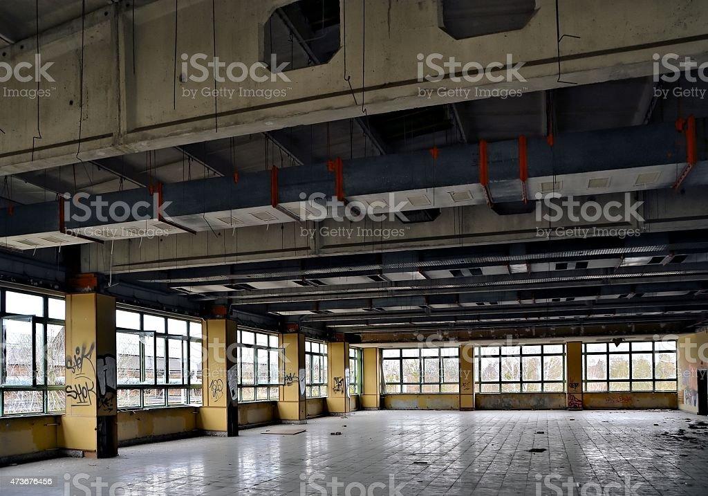 ehemaliger Speisesaal stock photo