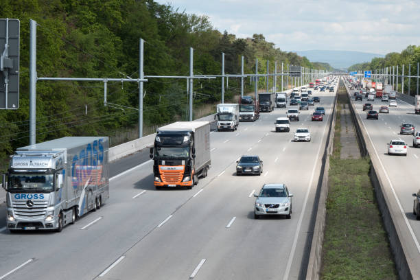 eHighway-Feldprüfung auf der Autobahn A5 – Foto