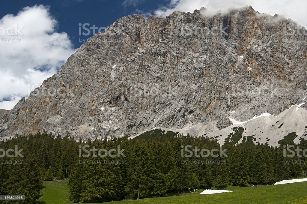 Ehrwalder Alp beneath Mt. Zugspitze Tyrol, royalty-free stock photo