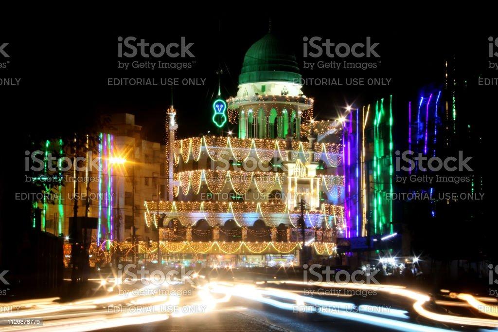 Eid Milad Unnabi Celebrations Stock Photo - Download Image
