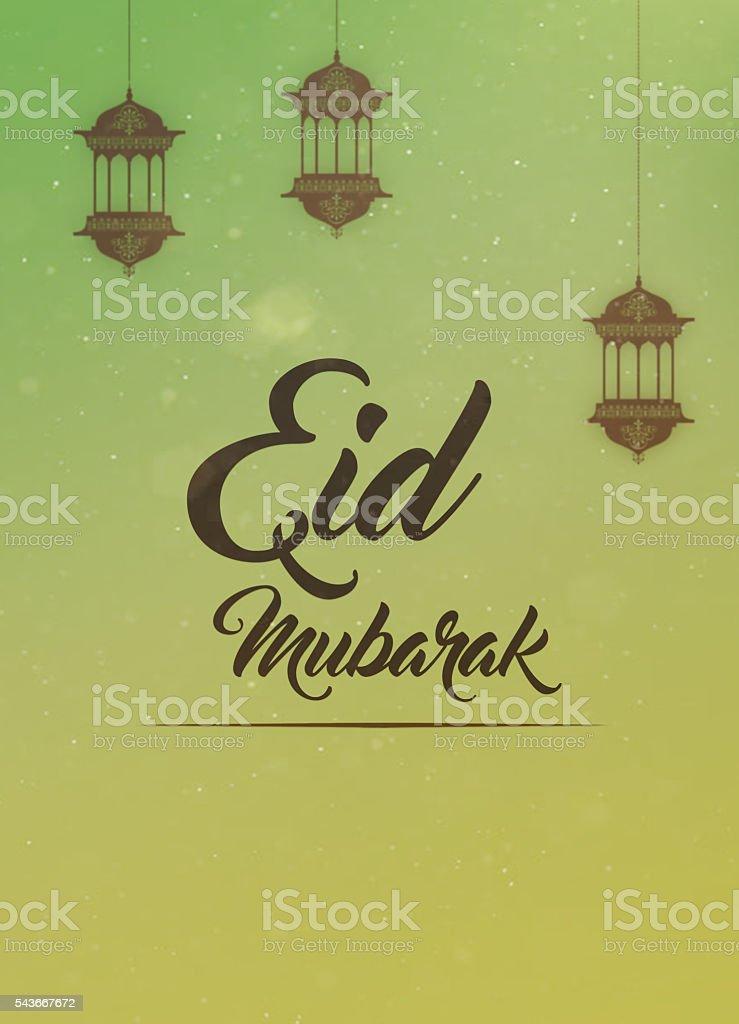 Eid mubarak carte de voeux - Photo
