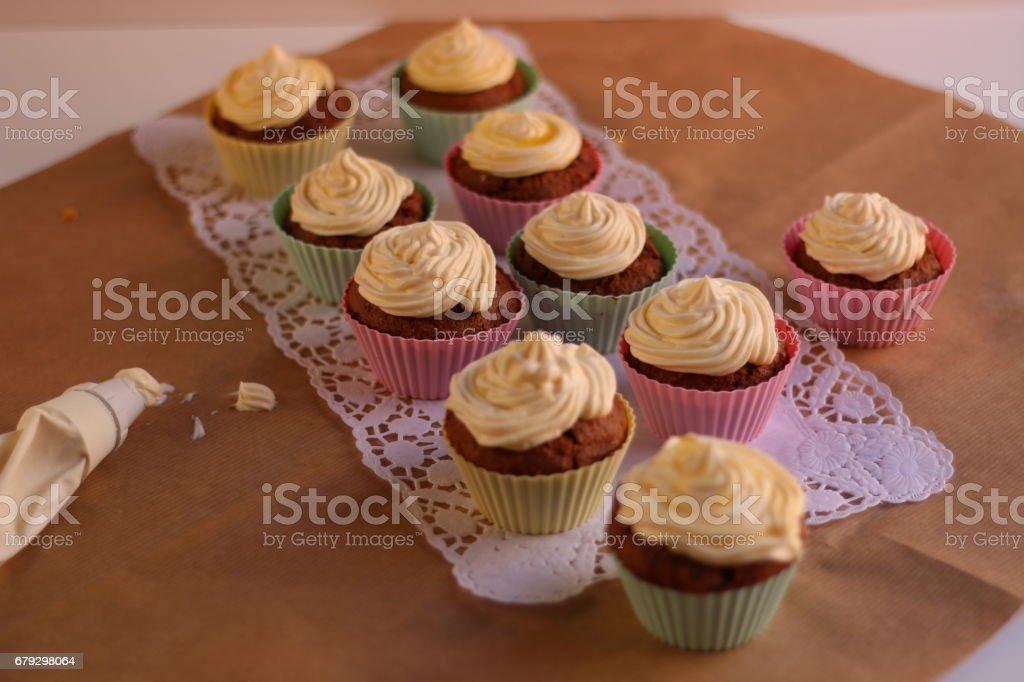 Eierlikör Frischkäse Cupcakes royalty-free stock photo