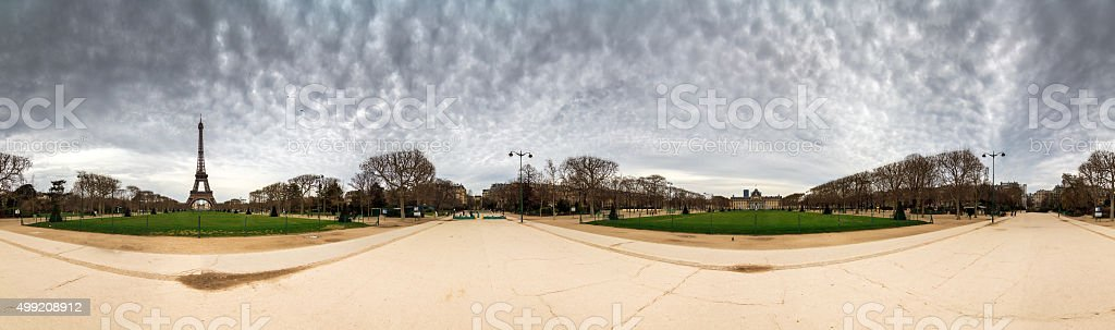 Eiffel 360 degree view stock photo