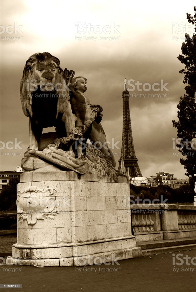 Eiffel in the distance royalty-free stock photo
