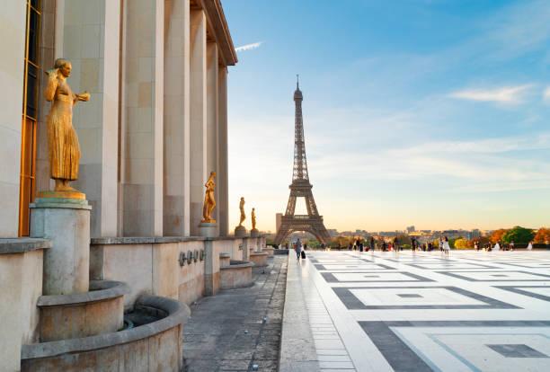 eiffel tour and from Trocadero, Paris stock photo