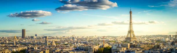 eiffel tour and Paris cityscape stock photo