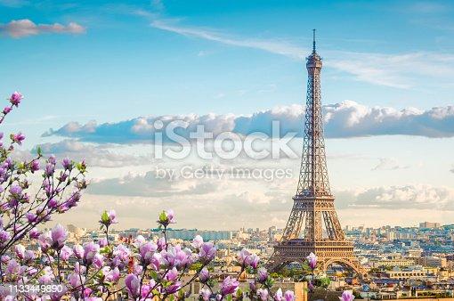 istock eiffel tour and Paris cityscape 1133449890