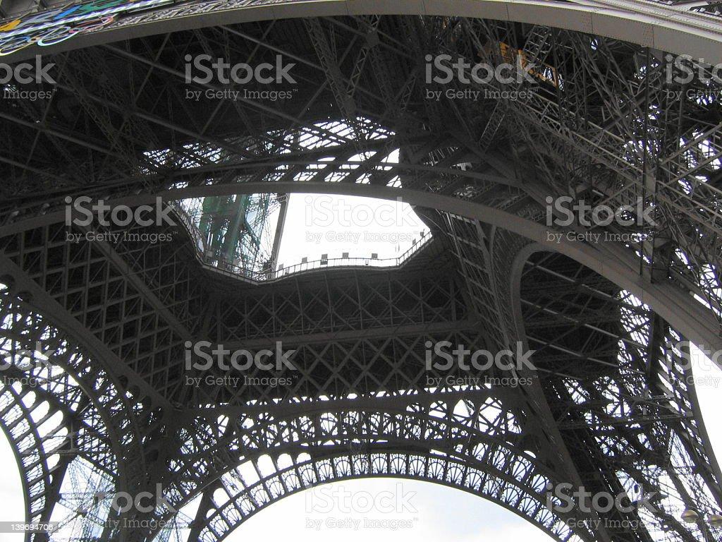 Eiffel tower 2 stock photo