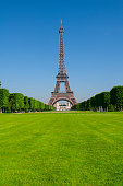 Eiffel tower and the Champs de Mars