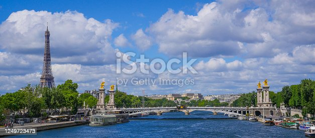istock Eiffel Tower and Pont Alexandre III, Paris 1249723473