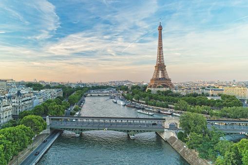 Eiffel Tower and Pont de Bir-Hakeim