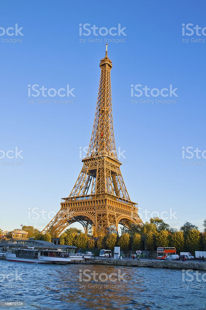Eiffel tower and Seine river, France royalty-free stock photo