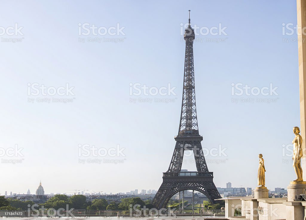Eiffel Tower and Trocadero stock photo