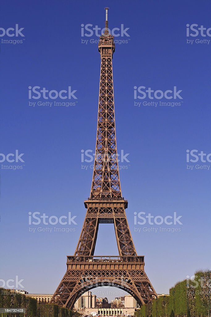 Eiffel Tower and Trocadero royalty-free stock photo