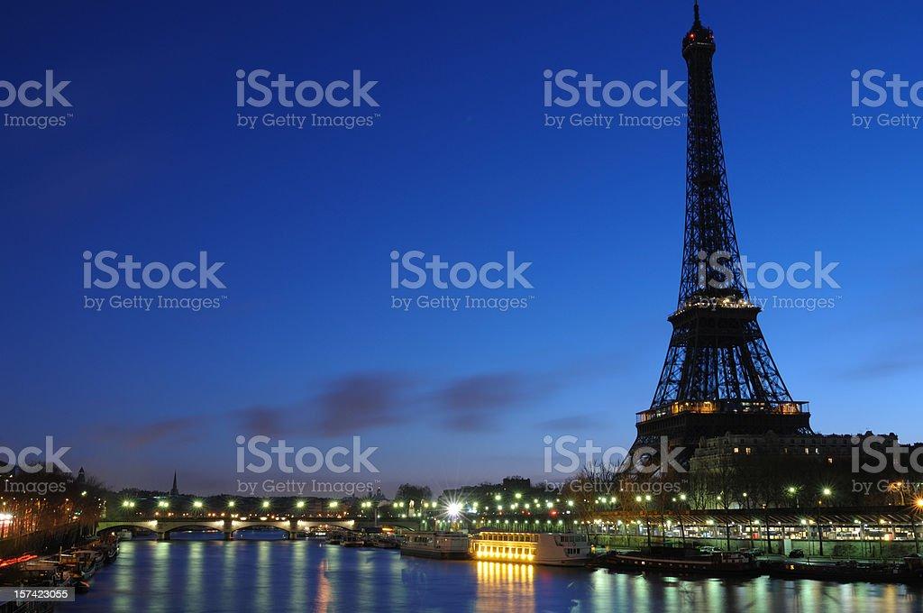 Eiffel tower at dawn royalty-free stock photo