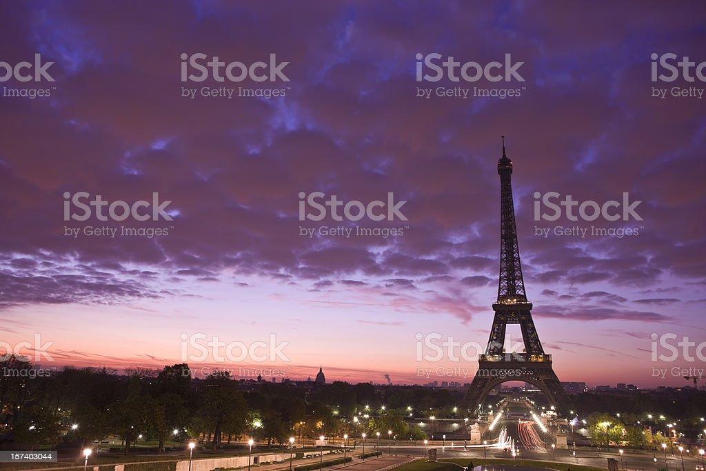 Eiffel tower at sunrise royalty-free stock photo