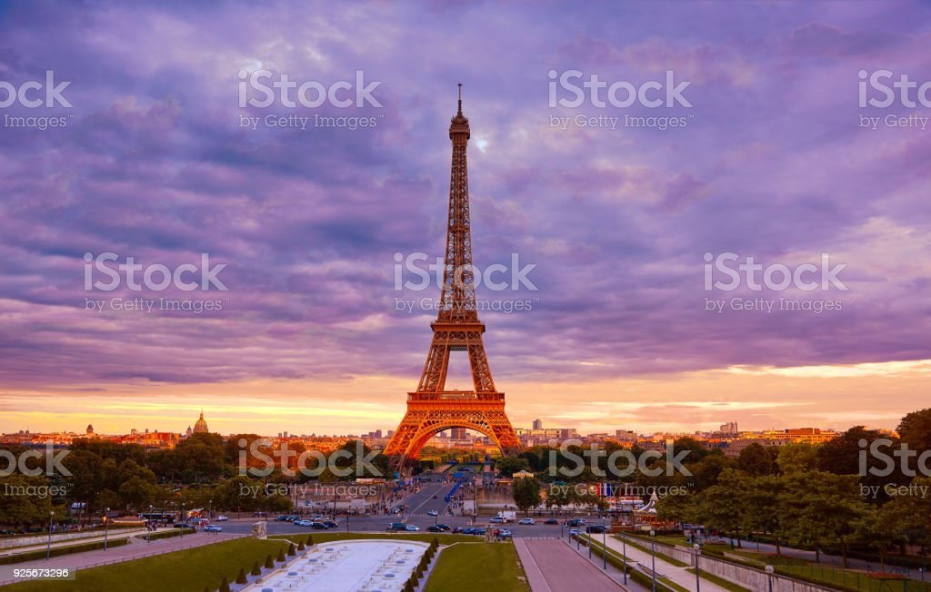 Eiffel Tower At Sunset Paris France Stock Photo Download Image Now Istock