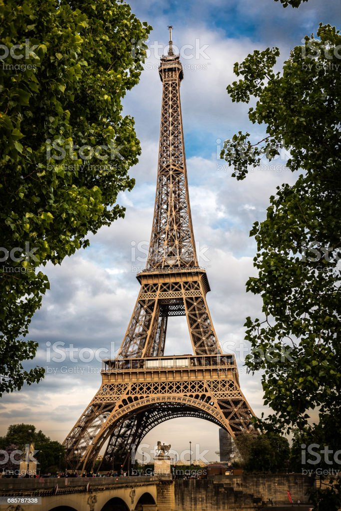 Eiffel Tower at TwiLight royalty-free stock photo
