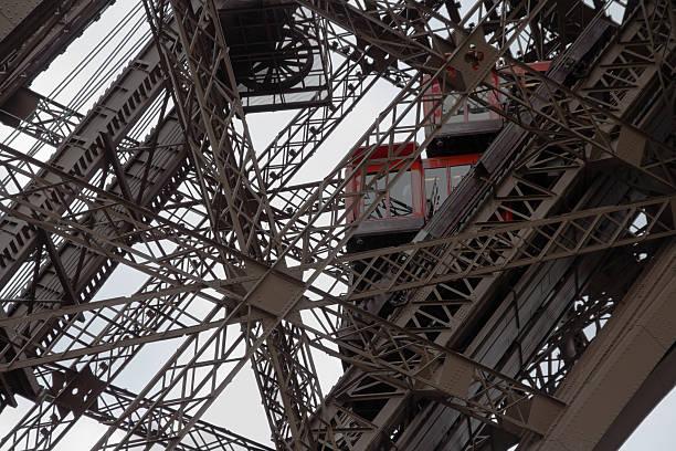 Eiffel tower elevators stock photo