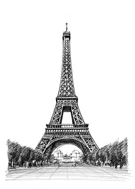 에펠탑 일러스트 스톡 사진