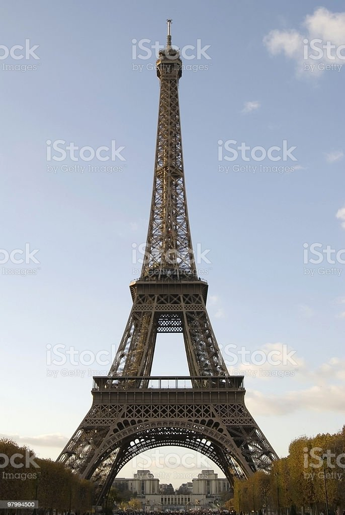 Eiffel Tower In Autumn. royalty-free stock photo