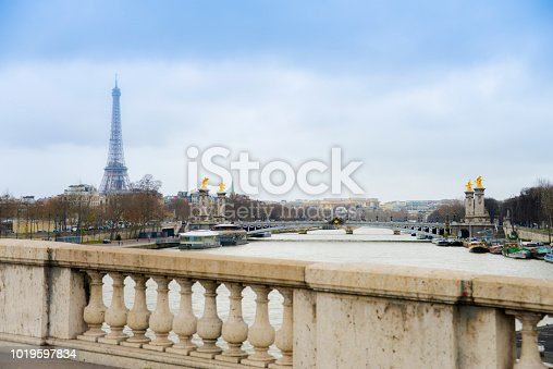 Eiffel tower in Paris alternative shoot point of view