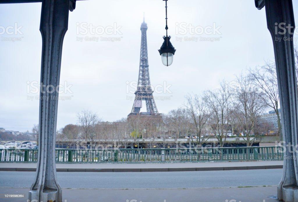 Eiffel tower in Paris alternative shoot point of view