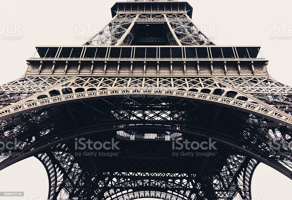 Eiffel tower in Paris, France - horizontal stock photo