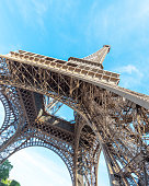 This is a photography of the Eiffel Tower, in Paris, France.