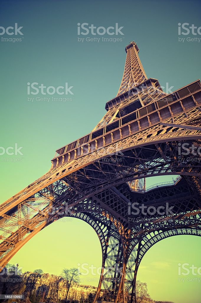 Eiffel Tower in Paris France royalty-free stock photo