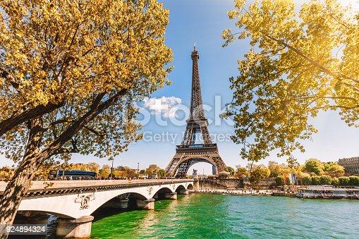 istock Eiffel Tower in Paris, France 924894324
