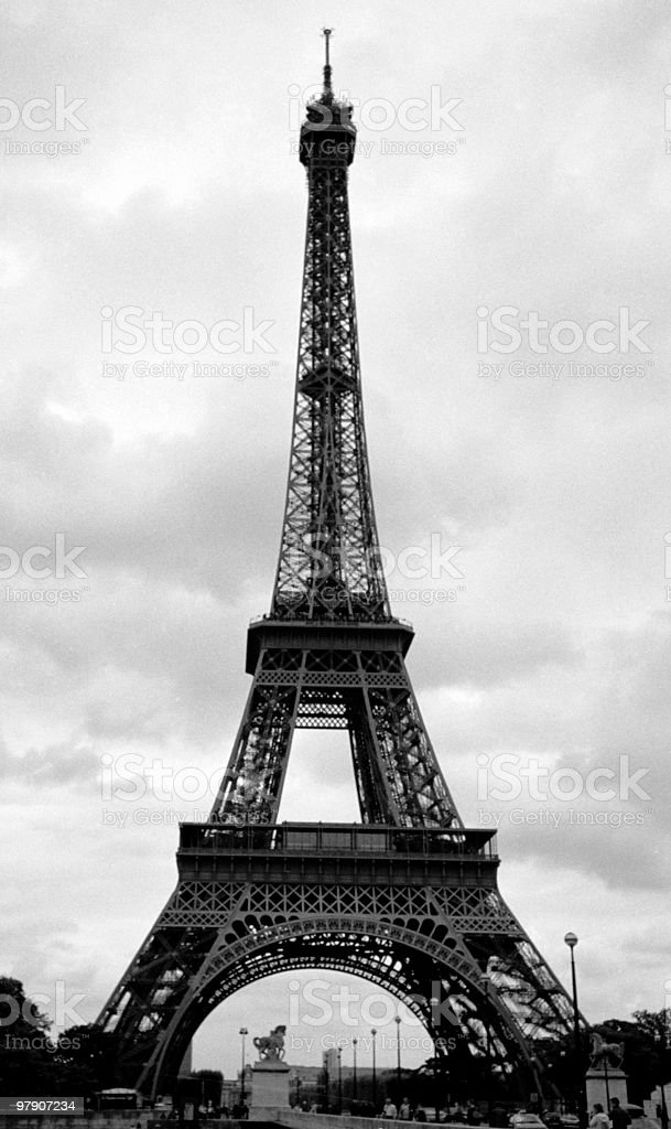 Eiffel Tower in Paris, France royalty-free stock photo