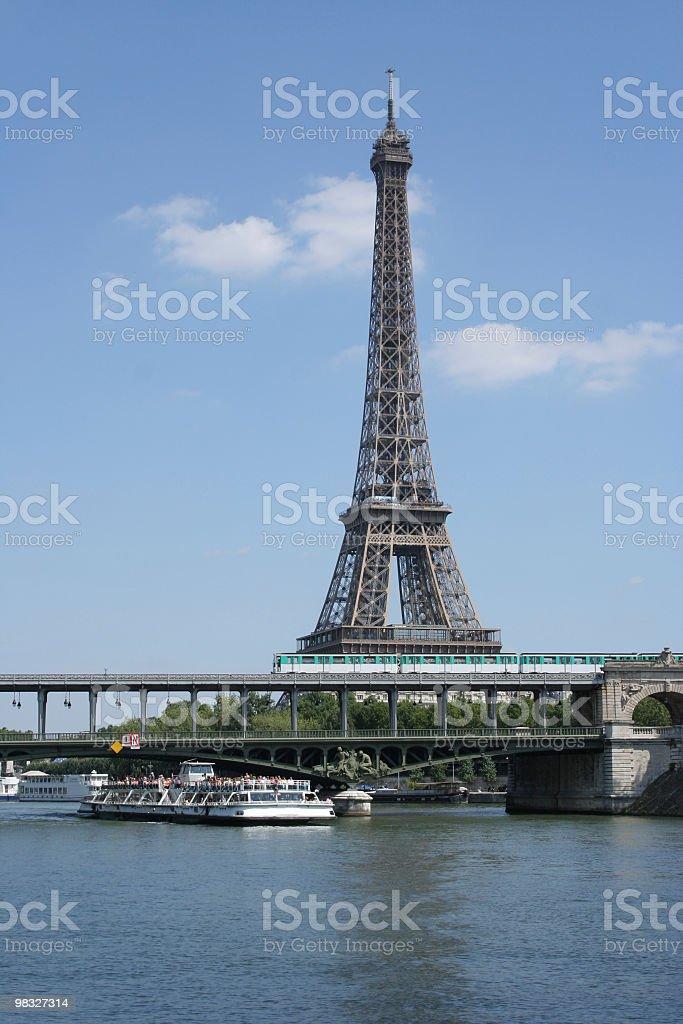 Torre Eiffel a Parigi, Francia foto stock royalty-free