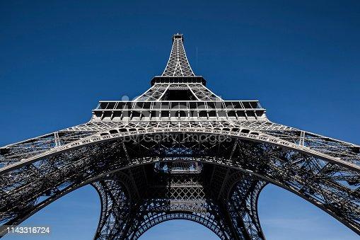 la tour eiffel under blue sky in paris, france.