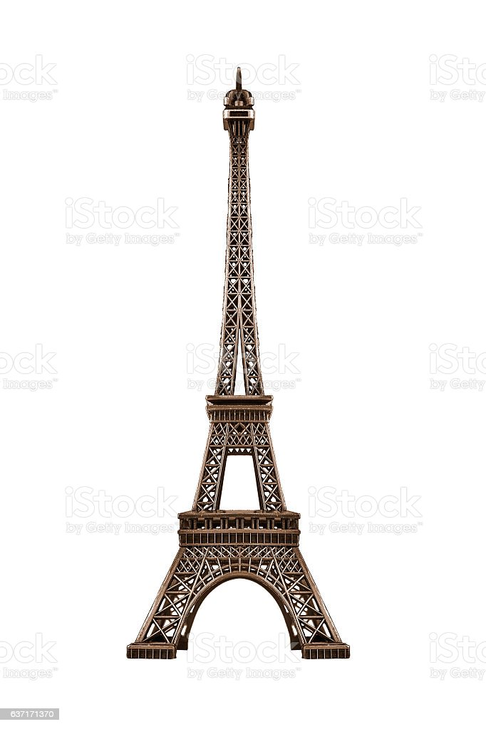 Eiffel tower isolated. stock photo