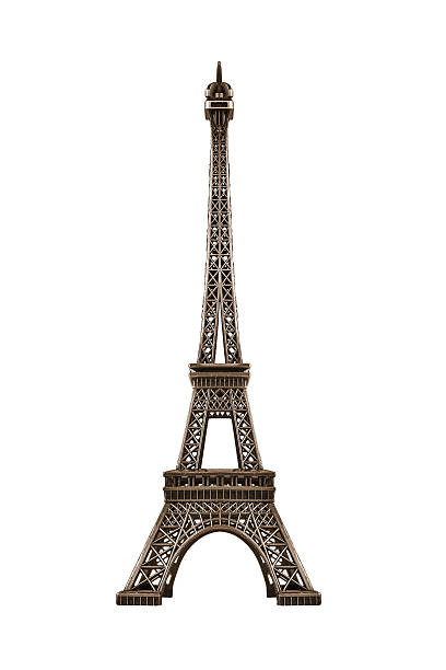 eiffel tower isolated. - eiffelturm stock-fotos und bilder