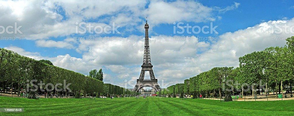 Eiffel Tower Panorama royalty-free stock photo