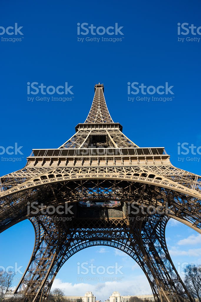 Eiffel tower, Paris, France. stock photo