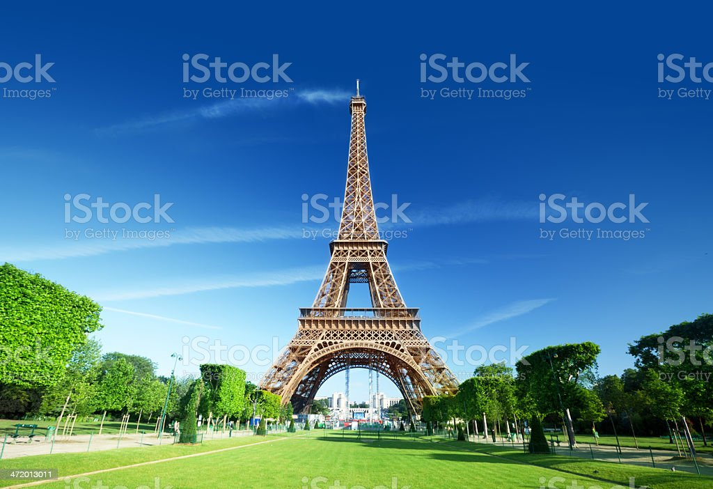 Eiffel tower, Paris. France. stock photo