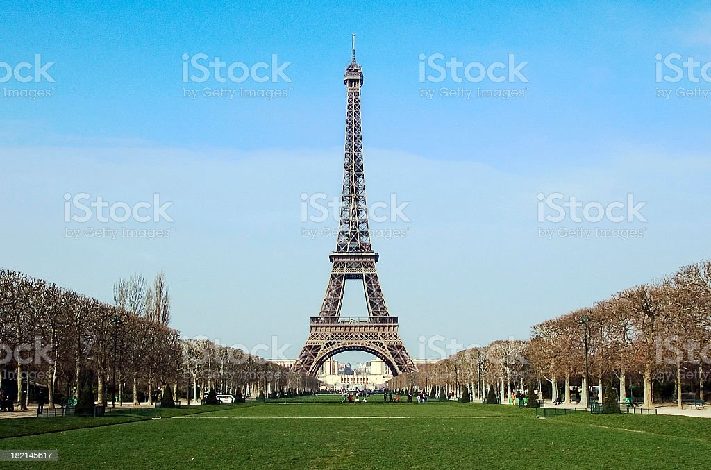 Eiffel Tower Perspective 2 royalty-free stock photo
