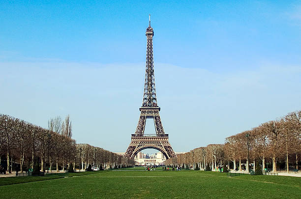 Eiffel Tower Perspective 2 stock photo