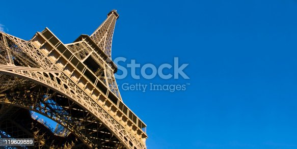 Always awesome... the Eiffel Tower against a radiant blue sky
