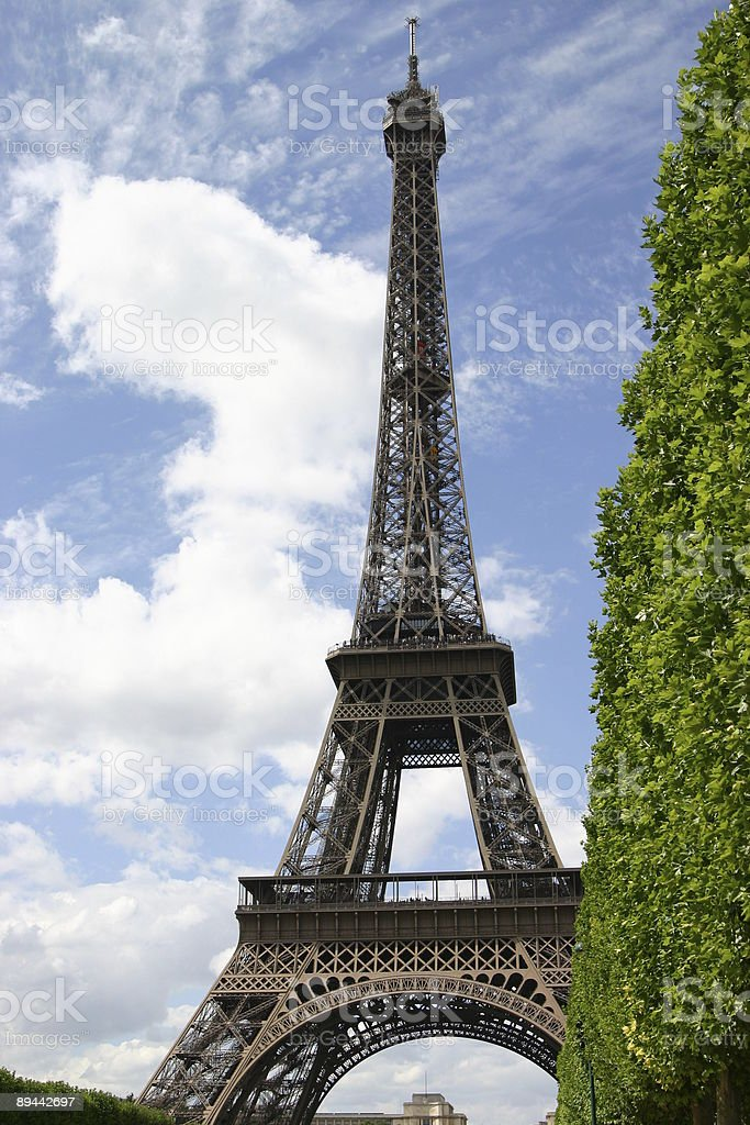 Torre Eiffel foto de stock libre de derechos
