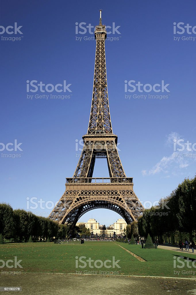 Eiffel Tower postcard royalty-free stock photo