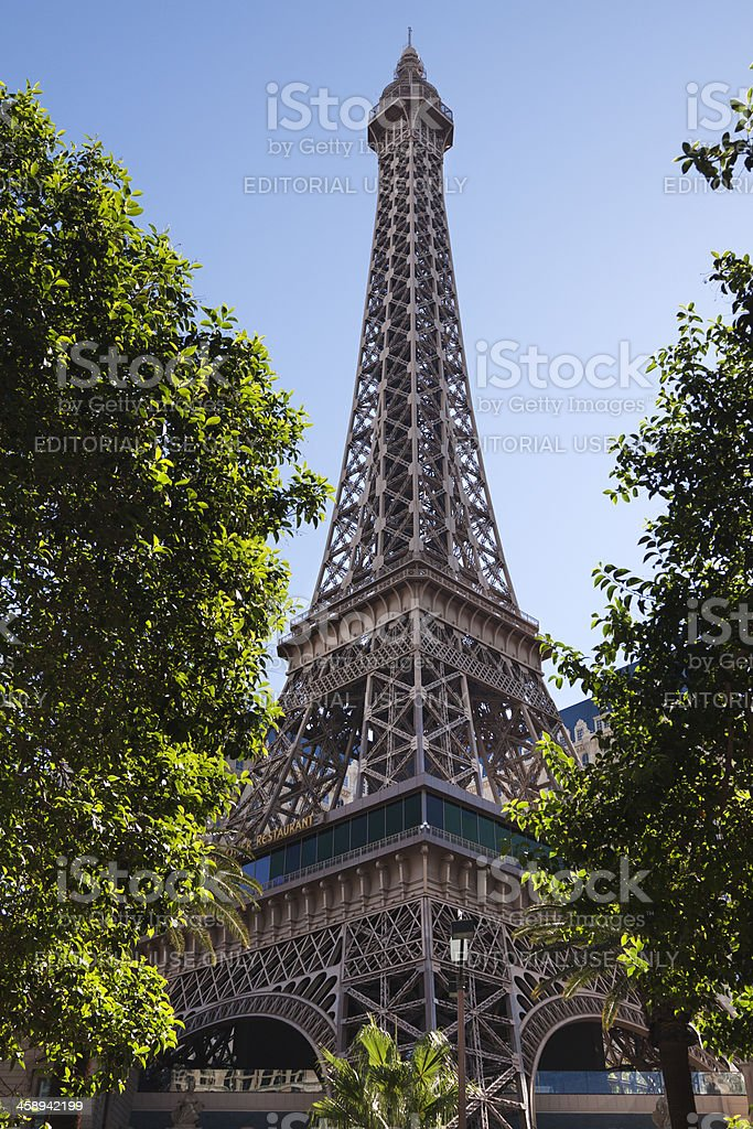Eiffel Tower replica in Las Vegas royalty-free stock photo