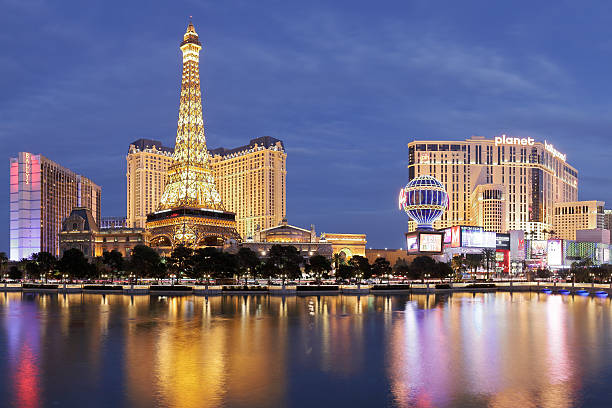 Eiffel Tower Replica - Las Vegas Strip stock photo