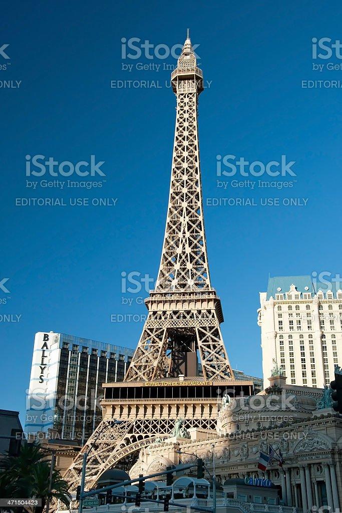 Eiffel Tower restaurant on the Las Vegas Strip in Nevada royalty-free stock photo