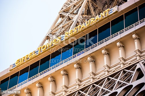 Eiffel tower replica view in Las Vegas, June 19, 2016
