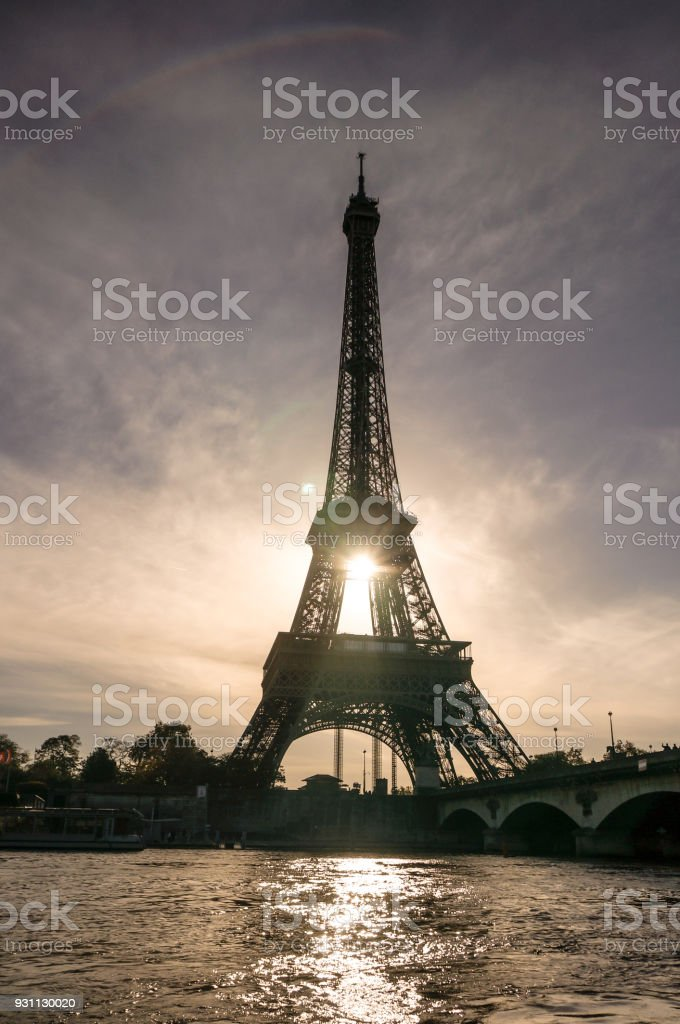 Eyfel Kulesi silueti - Royalty-free Avrupa Stok görsel