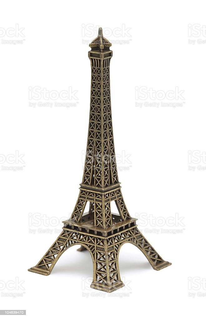 Eiffel Tower Statue, isolated royalty-free stock photo